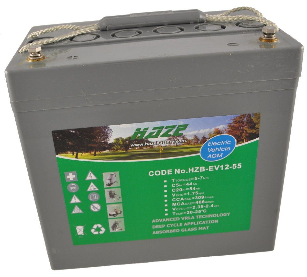 12V 61Ah Haze Sealed Lead Acid (AGM) Mobility Scooter Battery