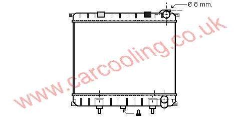 Radiator Rover Range Rover    PCC 106850