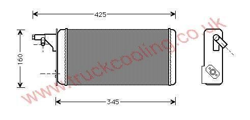 Heater Matrix Iveco Daily III    46722023 / 93930678