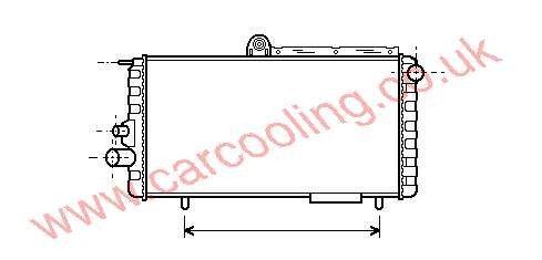 Radiator Alfa Arna    60504294 / 60504387