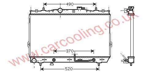 Radiator Hyundai Coupe I    25310-2D110