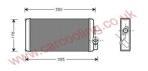 Heater Matrix Merc. 711 D Ecovan    002.835.2401