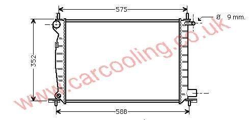Radiator Mazda 121 IV 1E07 / 1E16-15-200