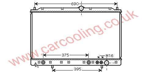 Radiator Mitsubishi 3000 GT    MB 605454