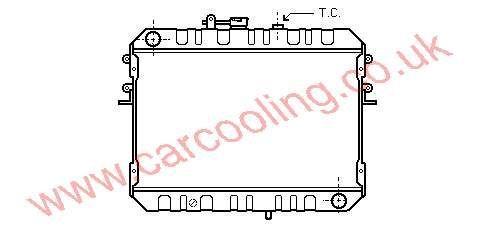 Radiator Mazda E-Series    RF01-15-200 B / C