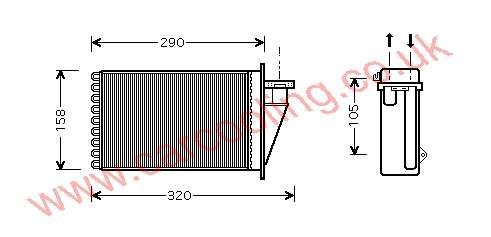 Heater Matrix Fiat Multipla    71714180