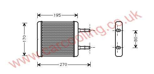 Heater Matrix Hyundai Avante I    97221-22000 / 22001