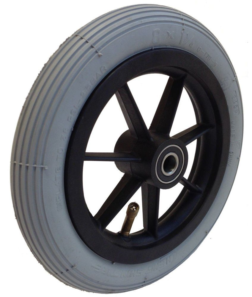 "8"" x 1 1/4"" (200mm x 30mm) Castor Wheel with Tyre & Tube WB8B/PNEU"