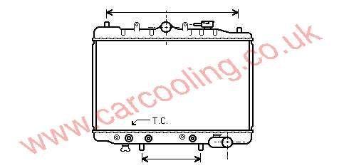 Radiator Mazda 323 II    B316-15-200     / B