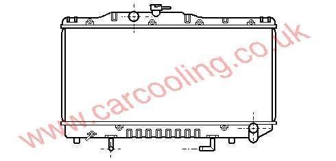 Radiator Toyota Celica II 16400-74070