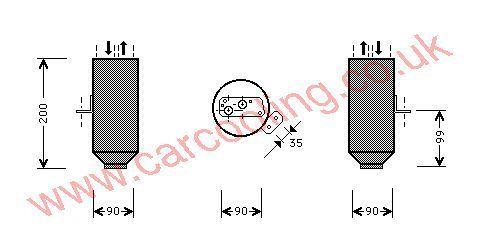 Drier BMW 5-Series E39    64538378684