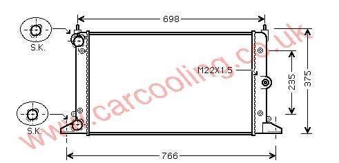 Radiator Seat Alhambra II 7M3.121.253 B