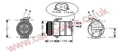 Compressor Vauxhall Zafira    1854111