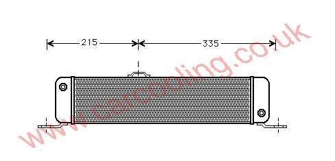Oil Cooler Merc. 209 D / 210 D ( BM 601 )    002.188.3001 / 3101
