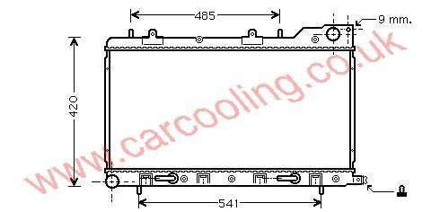 Radiator Subaru Forester 45111-FC300