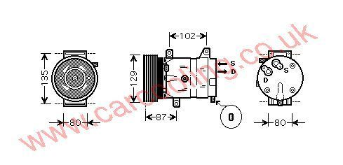 Compressor Renault Laguna II    8200024397