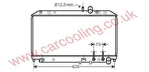 Radiator Mazda RX8 N3H2-15-200 C /