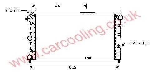 Radiator Vauxhall Cavalier Mk 2    1300135 - 90443466