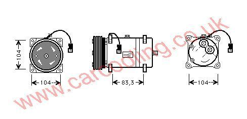 Compressor Citroen Berlingo Multi Space 6453L5