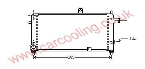Radiator Vauxhall Nova - A    1302015 - 90136753