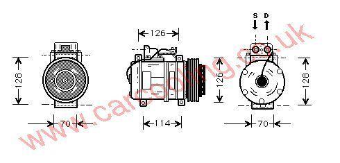 Compressor Merc. T124 Estate 2300511