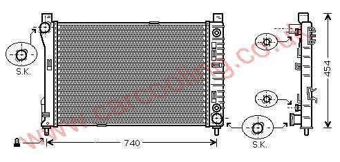 Radiator Merc. W203 C-Class    203.500.0503 / 1003 /