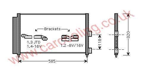 Condenser Lancia Y ( Ypsilon )    46820833