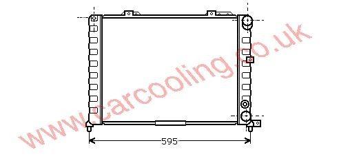 Radiator ALFA 164    60574551