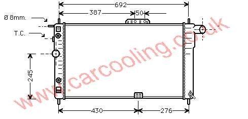 Radiator Daewoo Nexia    96144570