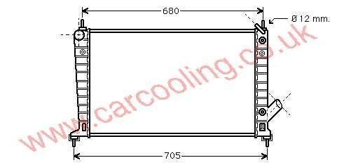 Radiator Saab 9-5 4575718 / 52466798