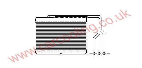 Heater Matrix BMW 5-Series E34    8351171