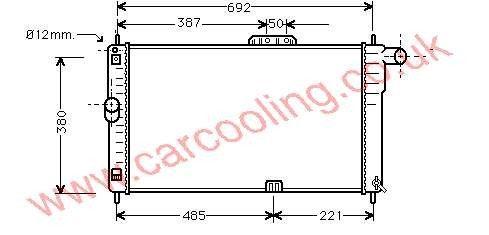 Radiator Daewoo Espero    96109532- A