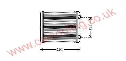 Heater Matrix Renault Vel Satis 7701.206.524