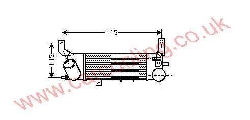 Intercooler Mazda 323 IV    RF4P-13-565 A
