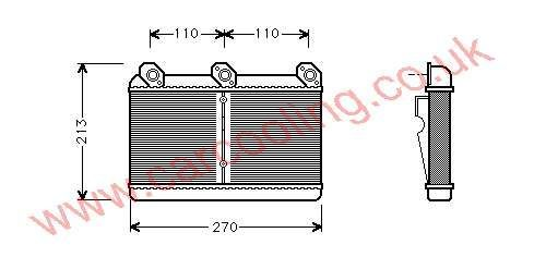 Heater Matrix BMW 8-Series E31 1374365 / 8372523