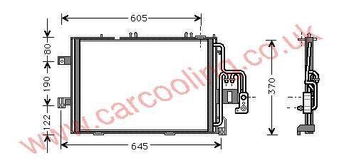 Condenser Vauxhall Combo - C    1850092 - 93177215