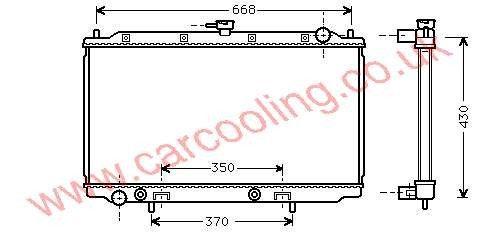 Radiator Nissan Primera P11    21460-2F300 / 9F510