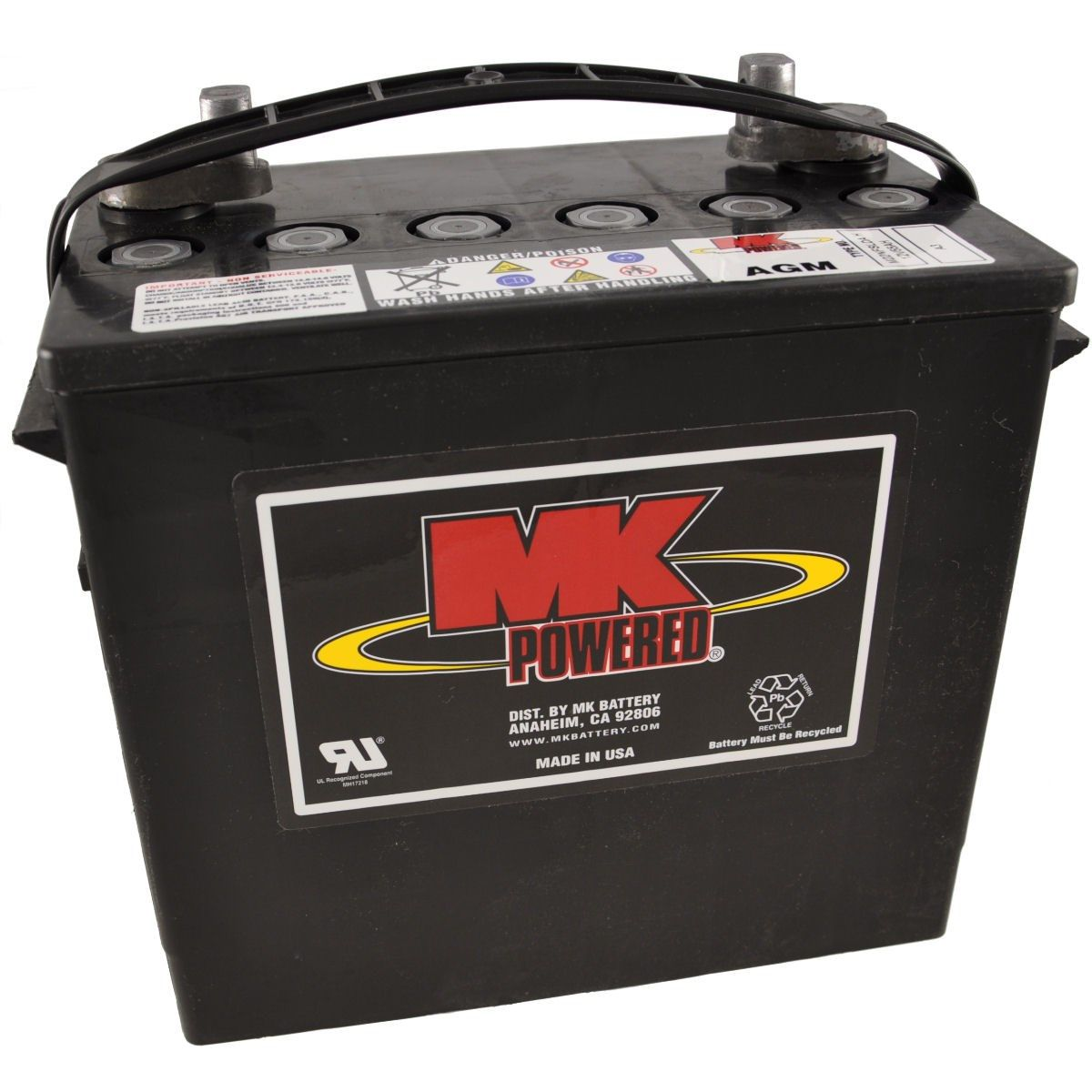 12V 55Ah MK Sealed Lead Acid (AGM) Mobility Scooter Battery
