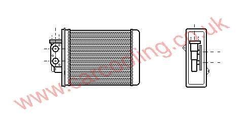 Heater Matrix Mazda 626 II GB90-76-405 A