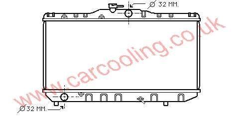 Radiator Toyota Corolla III 16400-