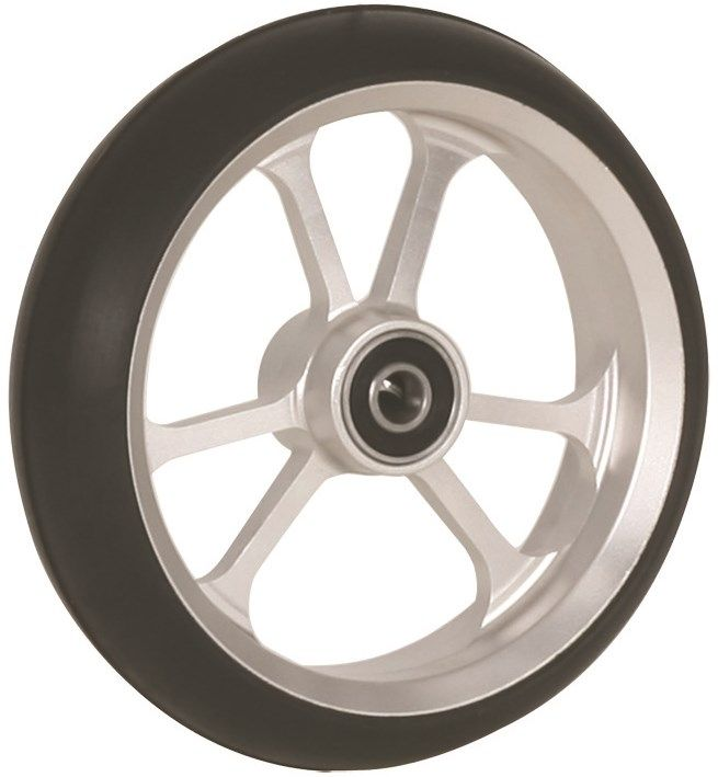 "125mm x 34mm (5"") Castor Wheel with ALUCore Hub, Black Rubber Tyre"