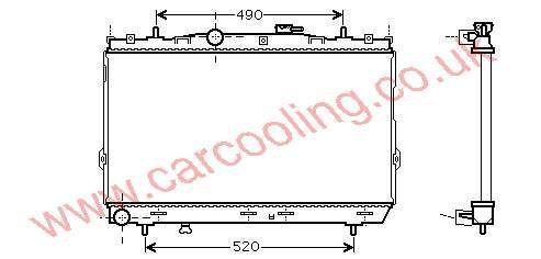 Radiator Hyundai Elantra IV    25310-2D100