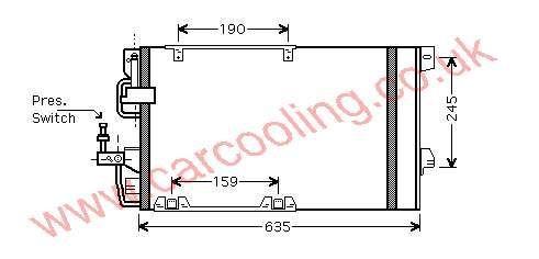 Condenser Vauxhall Astra Mk 4 1850073 - 93170608