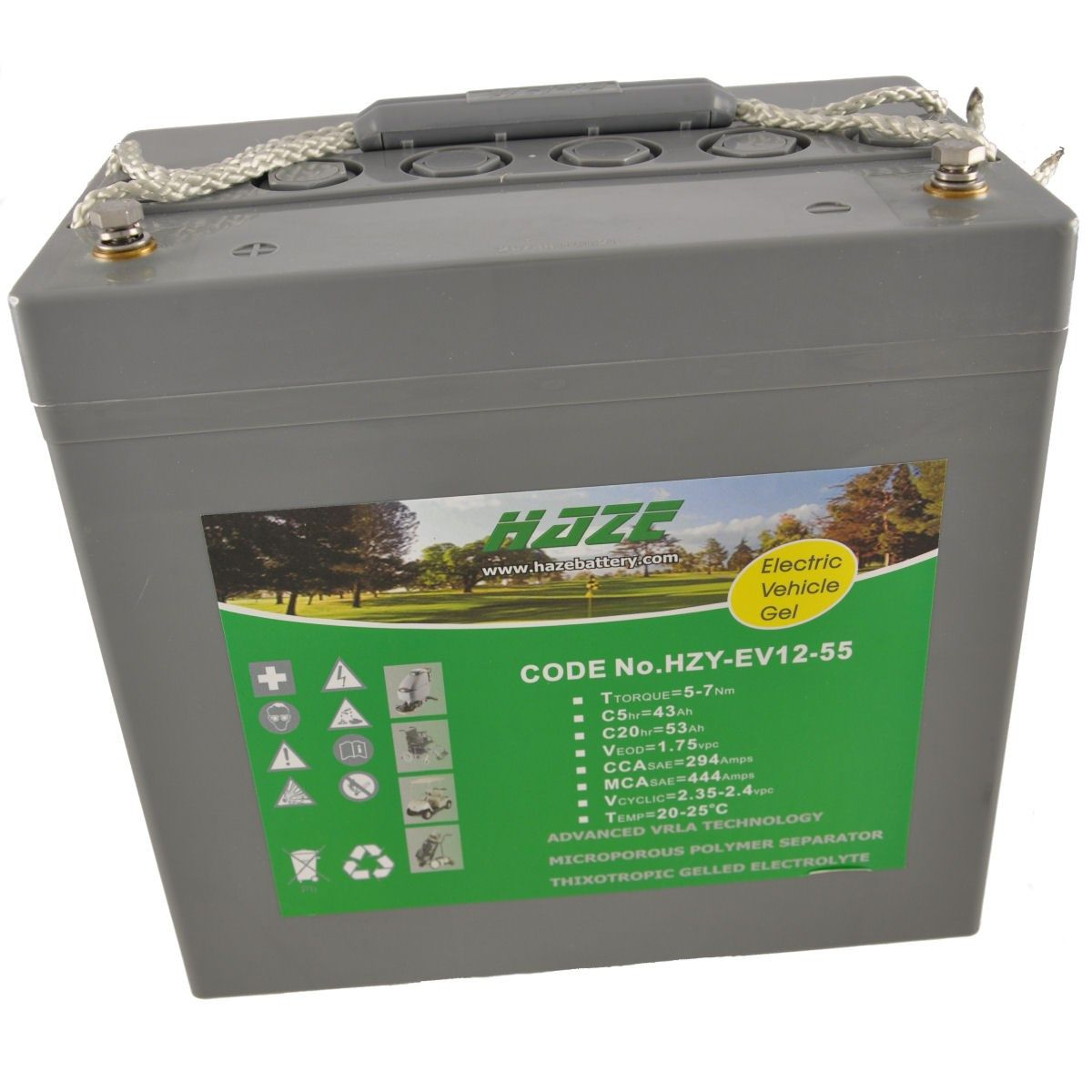 12V 52Ah HAZE GEL Mobility Scooter & Powerchair Battery HZY12-55EV