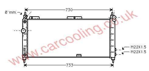 Radiator Vauxhall Tigra - A    1300153 - 52459322