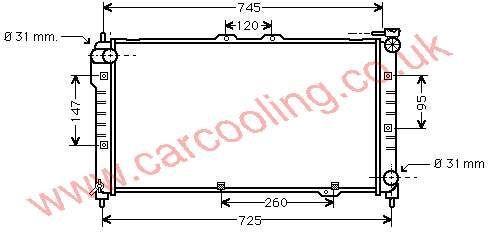 Radiator Mazda 323 IV    BPL7-15-200