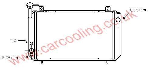 Radiator Nissan Sunny III    21410-58A00