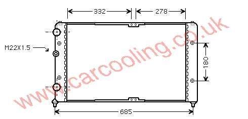 Radiator Seat Inca 6K0.121.253 AS
