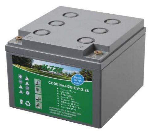 12V 33Ah Haze High Output Sealed Lead Acid (AGM) Mobility Scooter Battery HZB-EV12-26EX