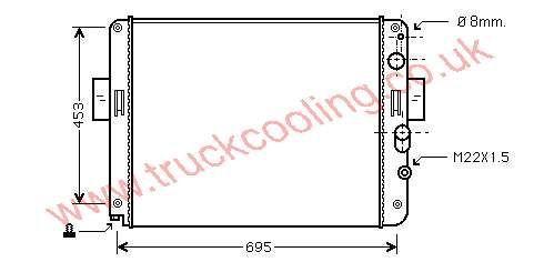 Radiator Iveco Daily III    93824070